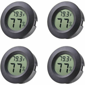 4*Mini Digital Thermometer Indoor Humidity Hygrometer Round Temperature Gauge