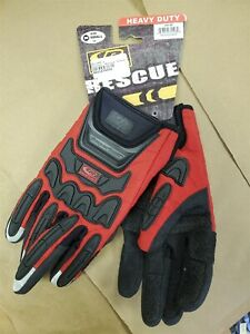 RINGERS GLOVES 347-08 Glove,Rescue,Cut Resistant,Small,Hi-Vis Red_NIB NWT