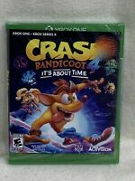 Brand New Xbox One X Series Crash Bandicoot 4 It's About Time Game FREE SHIP PR