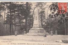 CPA GUERRE 14-18 WW1 LA CHIPOTTE 527 monument aux morts infanterie coloniale