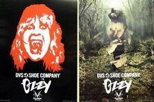 Ozzy Osbourne 2002 Dvs skateboard 2 sided promo poster New Old Stock Flawless