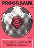 OL 89/90 HFC Chemie - Fortschritt Bischofswerda