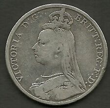 GREAT BRITAIN 1892 QUEEN VICTORIA JUBILEE SILVER CROWN