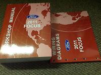 2011 FORD FOCUS Service Shop Repair Workshop Manual Set W EWD Factory OEM