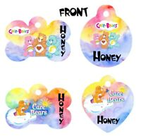 Pet ID Tag Care Bears Personalized Custom Double Sided Pet Tag w/name & number