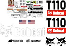 T110 replacement premium decal kit sticker set with warning decals fits bobcat