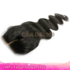 "Top Lace Hair Closures 100% Brazilian Virgin Human Hair Wigs Body Wave 8"""