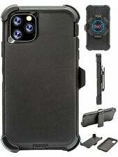 """For iPhone 11 Pro Max (6.5"""") Black Case Cover (Belt Clip Fits Otterbox Defender)"""
