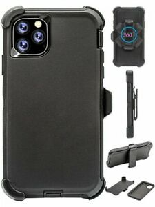 "For iPhone 11 Pro (5.8"") Black Case Cover (Belt Clip Fits Otterbox Defender)"