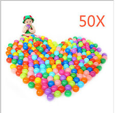 50pcs Colorful Secure Soft Plastic Ocean Ball Baby Kid Swim Pit Toy Pool Game