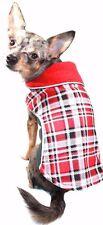 $54 NWT Hip Doggie Red Plaid Reversible Polar Fleece Wrap Coat Red Gray Size XS