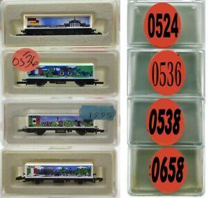 MARKLIN Z SCALE M/M 0524-0536-0538-0658  4 COLLECTOR Freight Cars Marklin BoxsC8