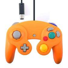 Orange Wired Vibration Joypad Classic Controller for Nintendo Will & Gamecube GC