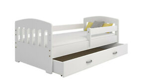 Bett Juniorbett Jugendbett Kinderbett Weiß 160x80 +Lattenrost+Schublade+Matratze