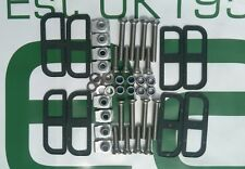 Land Rover Defender 90, 110, Front Door Hinge Bolt Kit + Shims, Stainless Steel