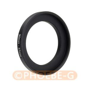30mm to 37mm 30-37mm Step Up Filter Ring Adapter Black