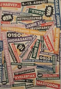 Oya Festival Oslo Norway 9-13 August 2016 Programme.