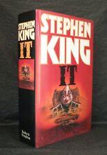 IT Stephen King UK 1st EDITION HB/DJ Hodder & Stoughton 1986
