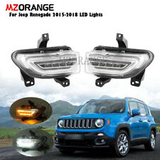 LED DRL For Jeep Renegade 2015 16-2018 Daytime Running Turn Signal Fog Light L+R