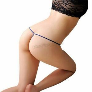 Women Pearls Briefs Panties Sexy Lingerie T-Back G-String Thongs Beads underwear