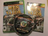 ORIGINAL PAL XBOX WAR GAME VIDEOGAME MEN OF VALOR +BOX & INSTRUCTIONS COMPLETE