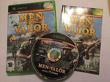 ORIGINAL PAL XBOX WAR GAME VIDEOGAME MEN OF VALOR +BOX & INSTRUCTIONS COMPLETE
