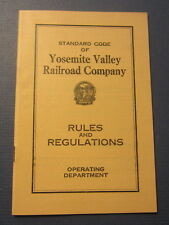 Original Old Vintage 1930 YOSEMITE VALLEY RAILROAD - RULES and Regulations BOOK