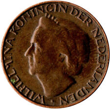 Netherlands 1 Cents, 1948, EF BRONZE, #WT1277