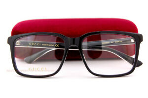 Brand New GUCCI Eyeglass Frames GG 0385/OA  001 Black For Men