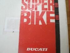 D961 BROCHURE DUCATI SUPER BIKE 888 RACING AND 888 STRADA ENGLISH/ITALIAN 8 PAGE