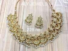 Indian  Beautiful Indian Ethnic Kundan Women Bridal Necklace jewlery set --
