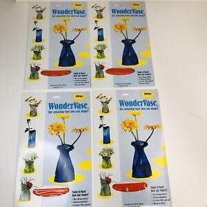 LOT of 4 Wonder Vase, Reusable Flower Vase Shape & Reshape, Crystal Red Tint