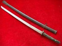 Sword Antique Japanese Katana Samurai Dagger Fighting With Sheath Hand Made