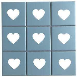 Heart Shape Tile Stickers Decals For Bathroom Kitchen Wall Vinyl Waterproof DIY