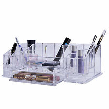 NEW GLAM COSMETIC MAKE UP NAIL POLISH ORGANISER DISPLAY STAND RACK CLEAR DRAWER