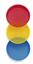 DANTOY ROBUST SAND BUCKET SIEVE x 1 14cm play sieve for kids red, blue, yellow
