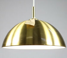 Alte Doria Lampe Pendel Leuchte Messing Schirm ∅38 cm Neuw. OVP 60er Jahre