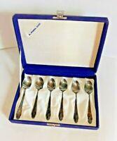 Servizio 6 Cucchiaini In Argento 1000 Vintage no 800