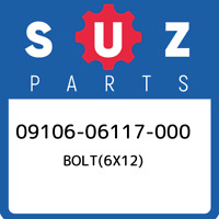 09106-06117-000 Suzuki Bolt(6x12) 0910606117000, New Genuine OEM Part