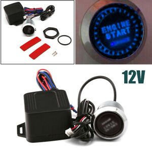 12V Car SUV Engine Start LED Keyless Entry Push Button Switch Lgnition Starter