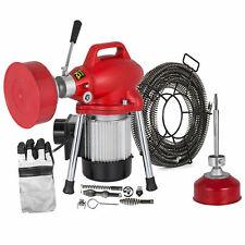 250W Electric Drain Pipe Cleaning Machine 4.5mx9mm 10mx16mm 2.5mx15mm Spirals