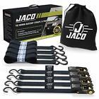 JACO Ratchet Tie Down Straps 4 Pack - 1 in x 15 ft | AAR Certified Break Stre...