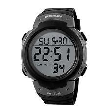 Men's Boy Military Digital LED Date Sport Rubber Waterproof Quartz Wrist Watch