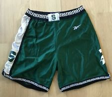 86b02380e73e VTG Michigan State Spartans Pro Cut Game Worn Used Issued Basketball Shorts  42