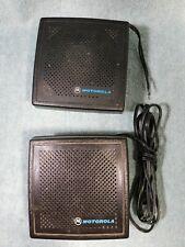 2 Motorola Mobile Radio Speaker For Ham Vhf Uhf Hf Cb Radio Scanner