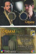Grimm - Breygent San Diego 2014 SDCC GCC-5 Dual Costume Card worn Monroe + Nick
