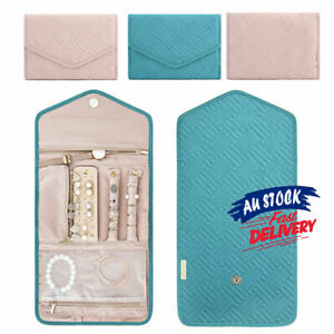Foldable Jewelry Case Pouch Roll For Journey Jewellery Organiser Travel