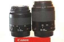 Canon EF 35-80mm 80-200mm TWO FX lens SET for EOS A2 1V Rebel T7 5D 6D 7D 90D 1D