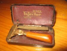 **SALE**WOW !!Vintage Schick Injector Razor in Case - Caramel Bakelite Handle