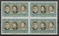 Luxembourg 1964 Sc# 414 King Baudouin Juliana Grand duchess Charlotte block4 MNH
